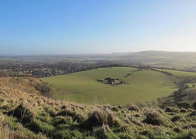 Vies of Steynibg from Bostal, South Downs Way